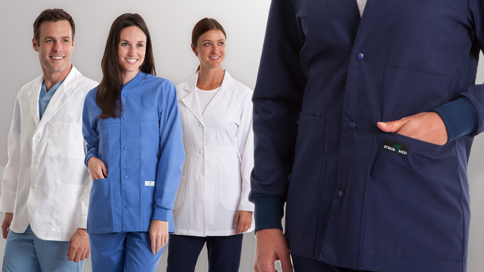 Mens lab coats and womens lab coats